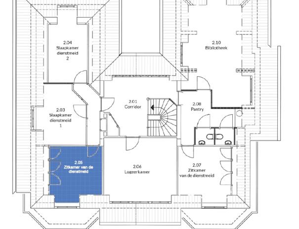 Kantoorvilla de Pastorie Vergaderruimte Kantoorruimte Huren Exclusief Bergen op Zoom Per Uur Plattegrond Floorplan